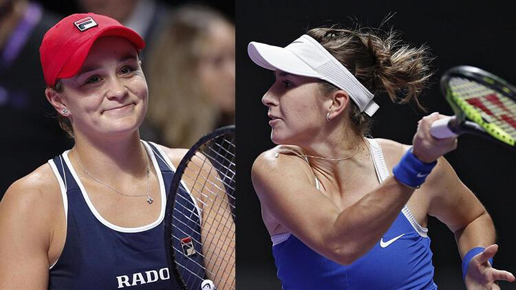 WTA Finalleri'nde ilk yarı finalistler belli oldu! Kırmızı Grup'tan Barty ve Bencic...