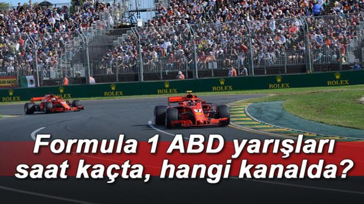 Formula 1 ABD yarışı ne zaman, saat kaçta ve hangi kanalda yayınlanacak?