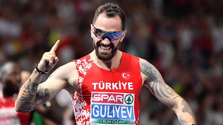 Ramil Guliyev'den anlamlı koşu