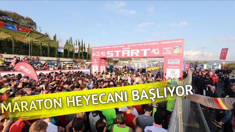 Vodafone İstanbul Maraton koşusu saat kaçta başlayacak Kapalı yollar ne zaman açılacak