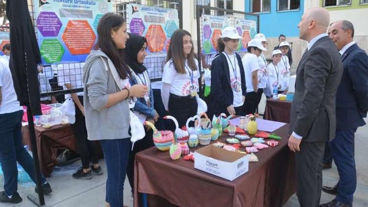 Sarayköy'de TÜBİTAK Bilim Fuarı Sergisi açıldı