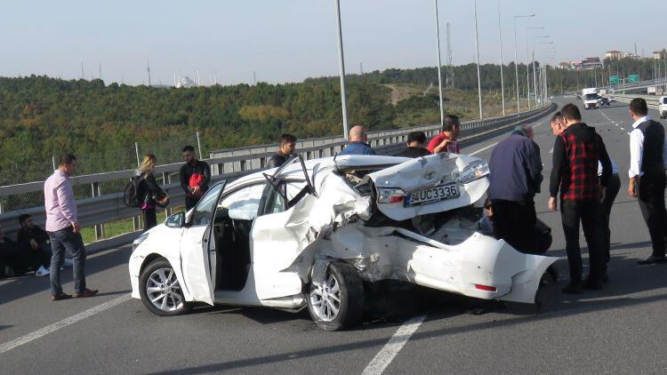 Beykoz Kuzey Marmara Otoyulu'nda kaza: 4 yaralı