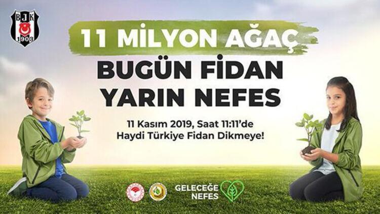 """Beşiktaş'tan taraftarlarına """"Geleceğe Nefes Ol"""" çağrısı!"""