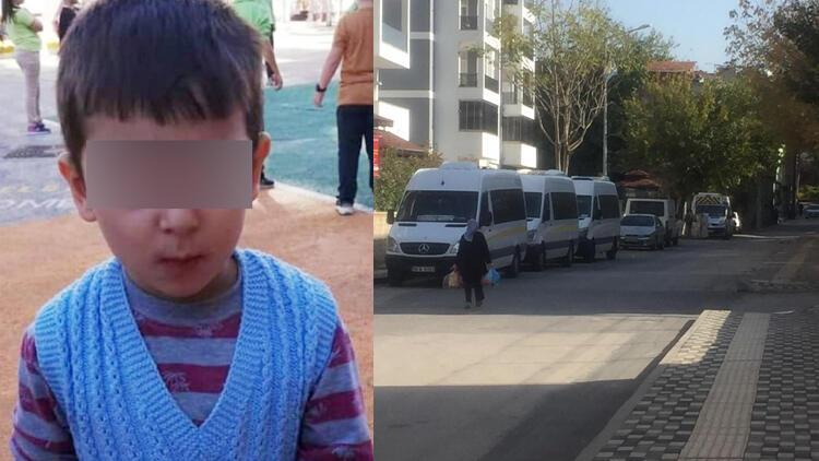 Serviste unutuldu, polisler küçük çocuğu ağlarken buldu