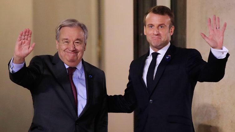 Macron, Guterres ile görüştü