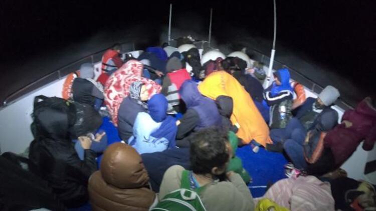 Çanakkale'de 40'ı çocuk 84 kaçak göçmen yakalandı