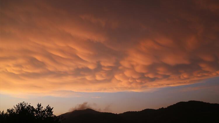 O bulutlar Hatay'da görüldü
