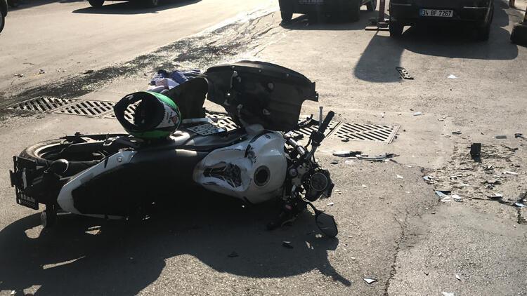 Şişli'de minibüsle çarpışan motosikletli öldü