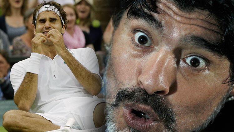 Maradona, Federer'i ağlattı! O sözler...