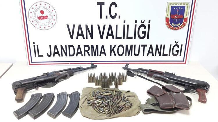 Çatak'ta PKK'nın silah ve mühimmatı ele geçirildi