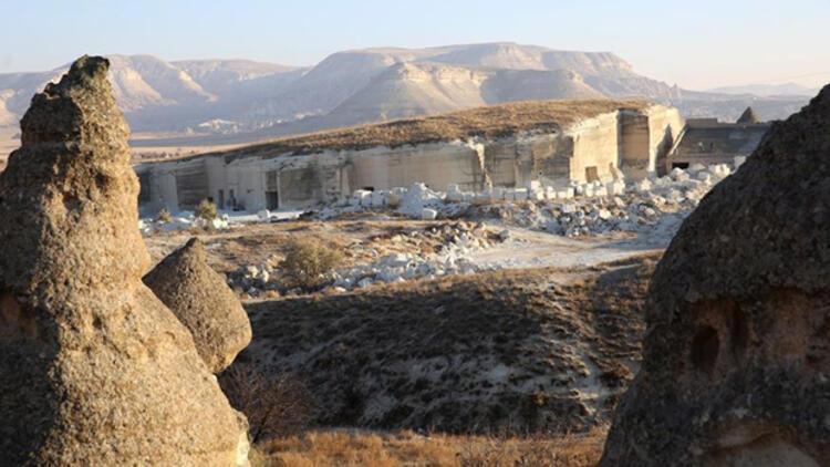 """Kapadokya'daki """"kayadan oyma yer altı müzesi""""nde sona yaklaşıldı"""