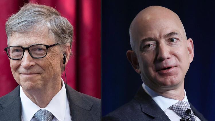 Jeff Bezos ve Bill Gates, en zenginler listesinde birinciliği ...