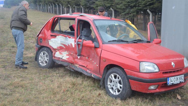 Kaza yaptı, 10 öğrencinin arasına daldı!