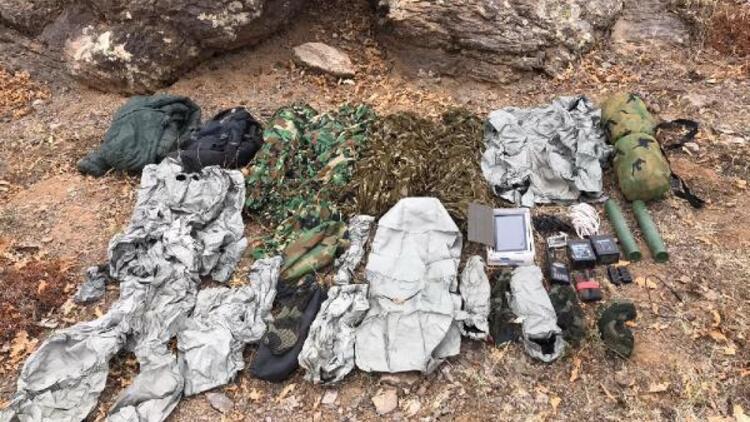 PKK'lı teröristlerin termal kamerada görünmemek için giydiği kıyafetler ele geçirildi