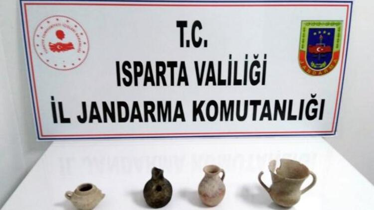 Isparta'da Tunç çağına ait tarihi eserler ele geçirildi