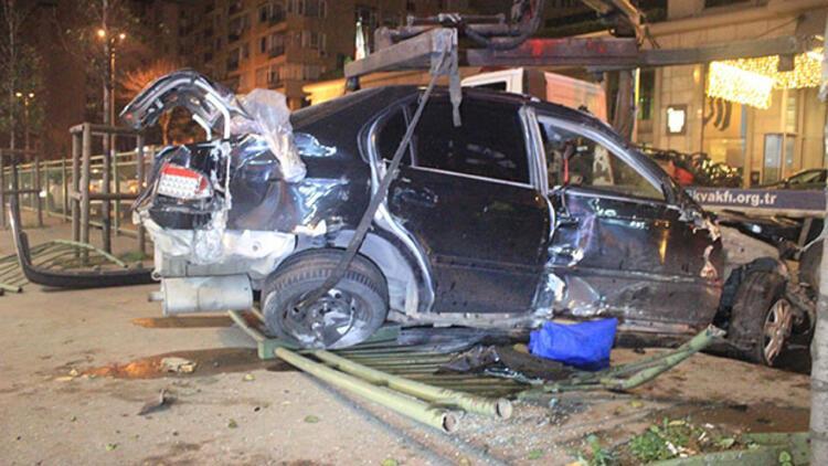 Beşiktaş'ta feci kaza: Bir yaralı