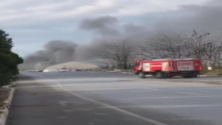 Son dakika... Tuzla'da fabrika yangını