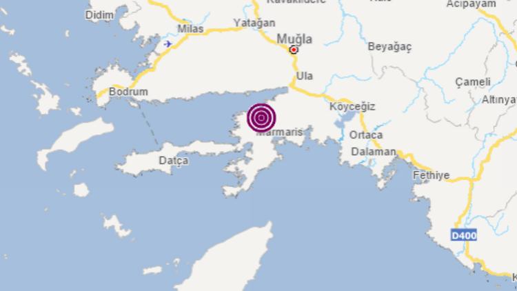 Son dakika... Marmaris'te 3 büyüklüğünde deprem