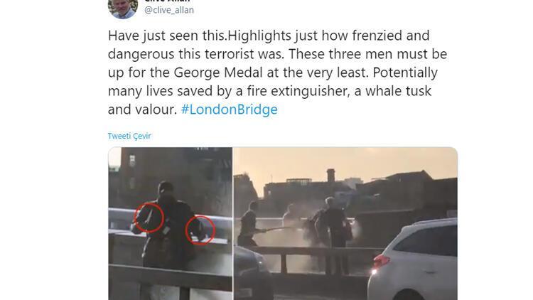 Saldırganı yangın söndürme cihazı ve balina boynuzuyla etkisiz hale getirdiler