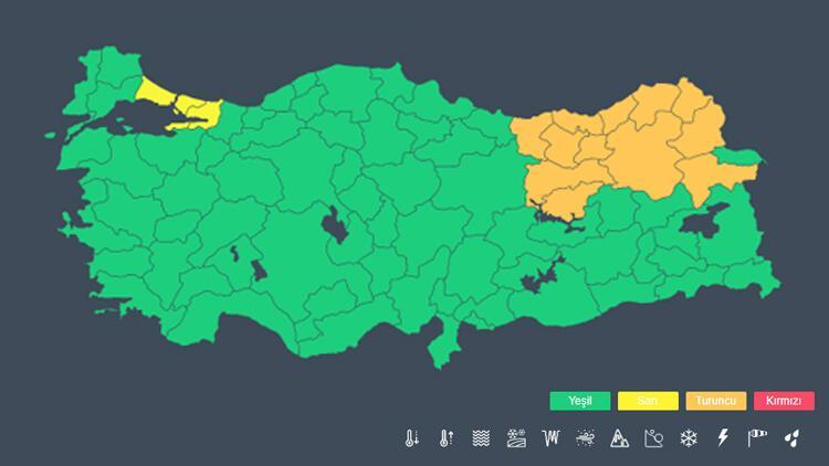 Son dakika: Meteoroloji'den İstanbul için 'sarı alarm'