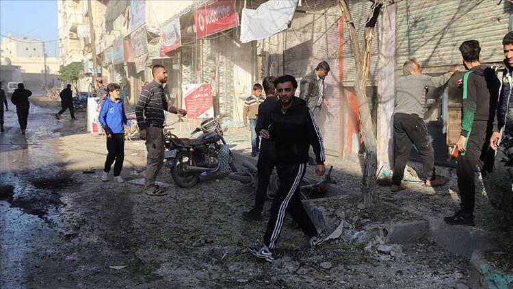 Tel Rıfat'ta yuvalanan YPG/PKK'lı teröristler Azez'deki sivillere saldırdı