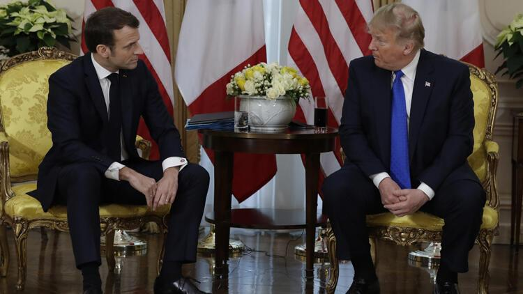 Son dakika... Trump ve Macron'dan önemli açıklamalar