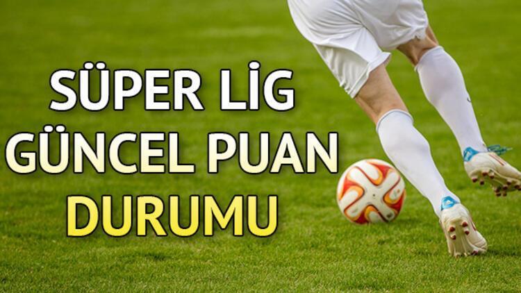 Süper Lig 14. hafta güncel puan durumu! 6 Aralık Süper Lig puan tablosu ve haftanın kalan maçları