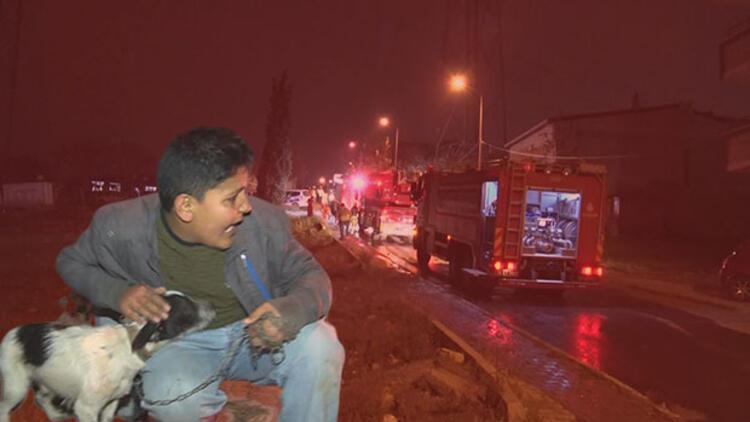 Alev alev yandı, 7 kişilik aile ölümden döndü