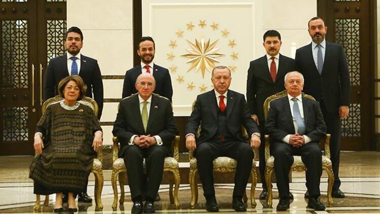 Abdülhamit'in torunu Külliye'de! Cumhurbaşkanı Erdoğan, güven mektuplarını kabul etti