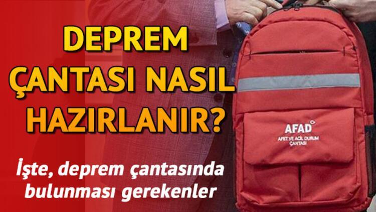 Deprem çantasına neler konulur? İşte örnek bir deprem çantasında bulunması gereken eşyalar
