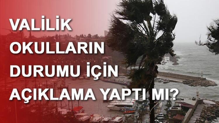 Antalya'da okullar tatil mi? Antalya Valisi Münir Karaloğlu yanıtladı...