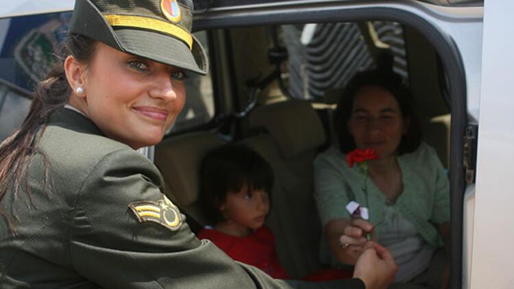 Şehit astsubay Esma Çevik'in Bodrum'da görev yaparken görüntüleri çıktı