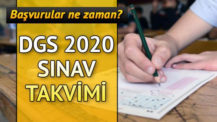 ÖSYM takvimine göre 2020 DGS başvuruları ne zaman? İşte 2020 DGS sınav tarihi