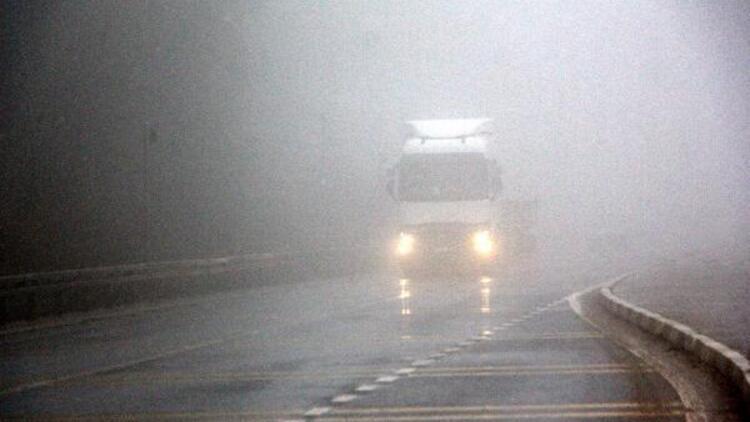 Bolu Dağı'nda kar ve sis etkili