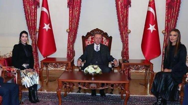 Cumhurbaşkanı Erdoğan, Hande Yener ve Demet Akalın'ı kabul etti