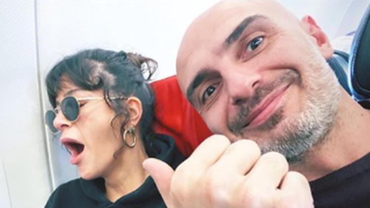 Berrak Tüzünataç ile sevgilisi Berk Suyabatmaz'dan ilk poz