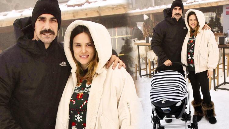 İbrahim Çelikkol ailesi ile tatilde... Ali'nin ilk kış tatili!