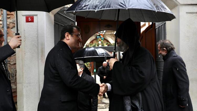 İmamoğlu'ndan yeni Ermeni Patriği Maşalyan'a ziyaret