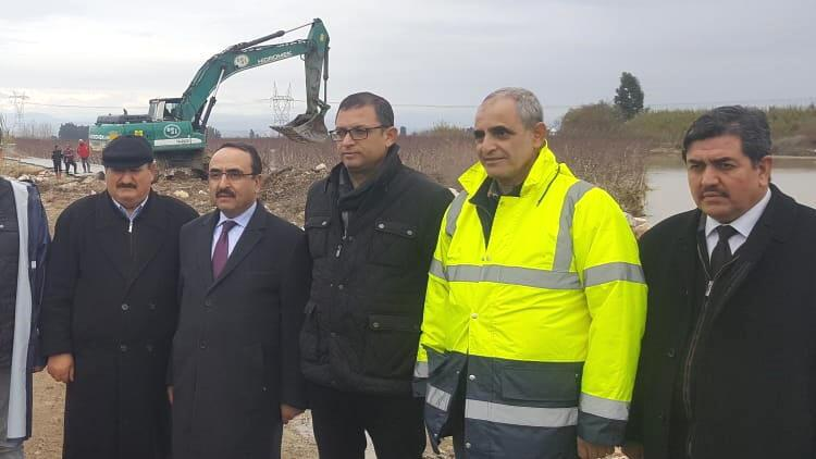 Bakan Yardımcısı Özkaldı, Tarsus'ta hasar gören tarım arazilerini inceledi