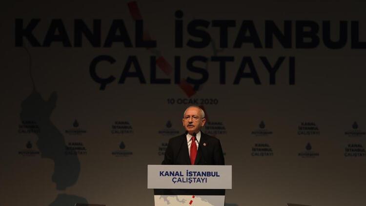 """CHP Genel Başkanı Kemal Kılıçdaroğlu """"Kanal İstanbul Çalıştayı""""nda konuştu"""