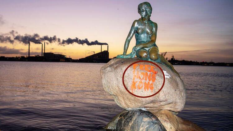 Kopenhag'ın simgesine bakın ne yazdılar!