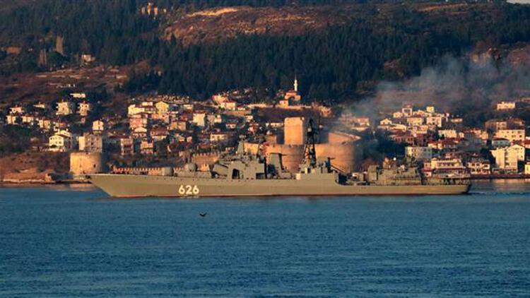 Rus savaş gemisi 'Koramiral Kulakov' Akdeniz'e iniyor