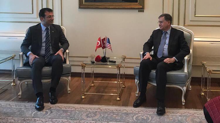 ABD Büyükelçisi Ekrem İmamoğlu'nu ziyaret etti