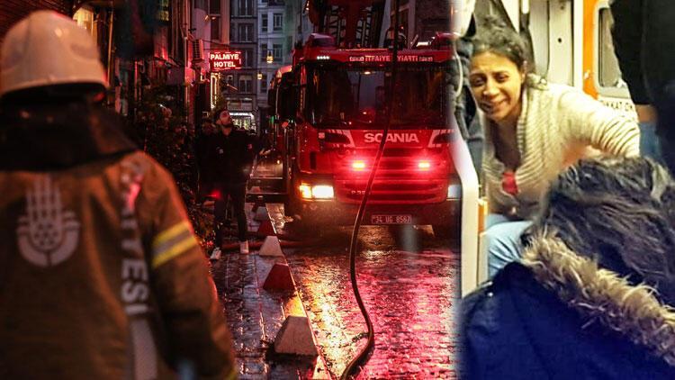 Beyoğlu'nda otelde yangın paniği!