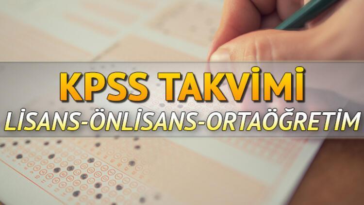 KPSS başvuruları ne zaman başlayacak? 2020 KPSS sınavları ne zaman?
