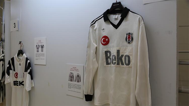 Beşiktaşlı futbolcuların 1903'ten bu yana giydiği formalar sergide görücüye çıktı