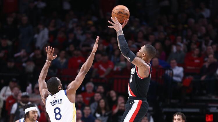NBA'de gecenin sonuçları | Lillard'dan kariyer rekoru! Warriors potasına 61 sayı...