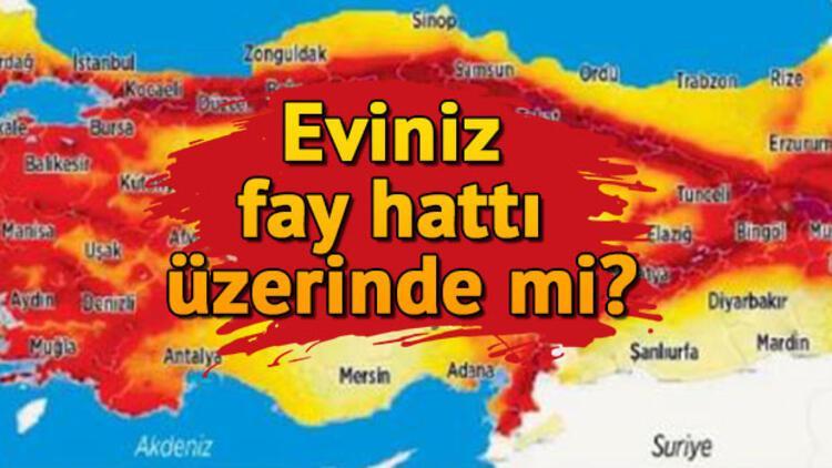 Doğu Anadolu ve Kuzey Anadolu Fay Hattı nerelerden geçiyor? Türkiye fay hattı haritası sorgulama