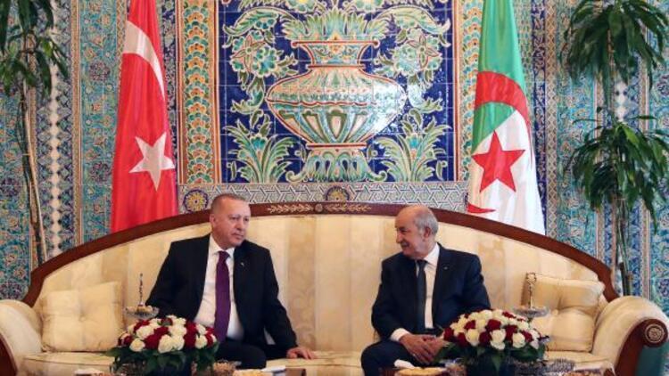 Erdoğan, Cezayir Cumhurbaşkanı Tebbun ile görüştü
