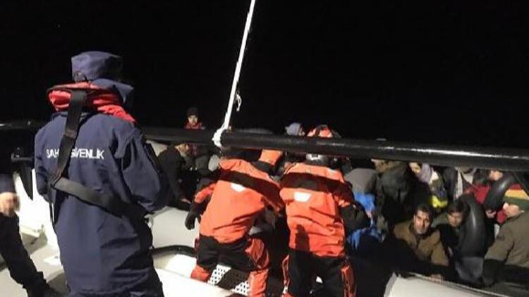 Enez açıklarında 32 kaçak göçmen yakalandı